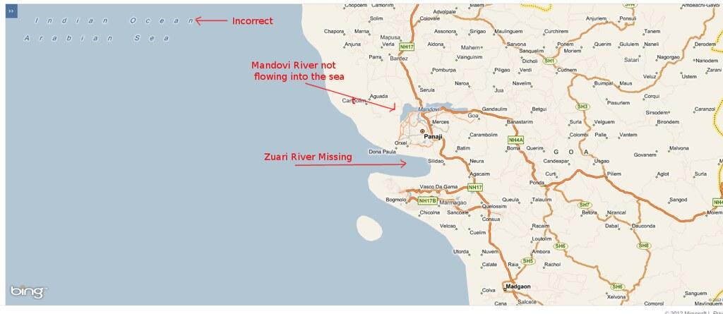 Goa (India) ... Bing Maps