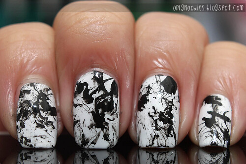 White Splatter Nails White Splatter Nails | by