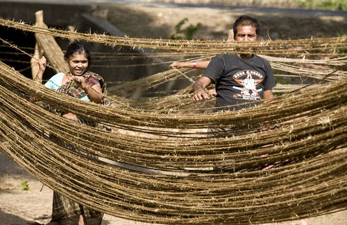 Drying ropes | by UNDP Nepal