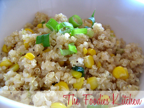 Sweet Corn & Quinoa with Honey Lemon Vinaigrette | by The Foodies' Kitchen