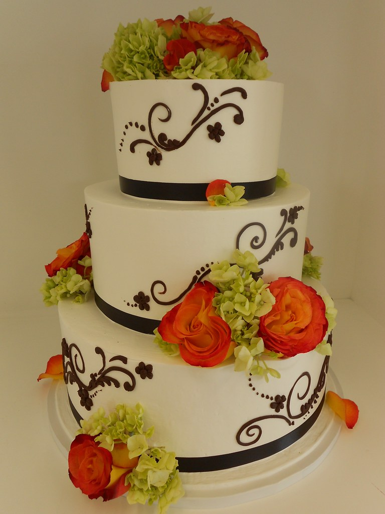 pictures of orange and green wedding cakes pics for gt green and orange wedding cake 18416