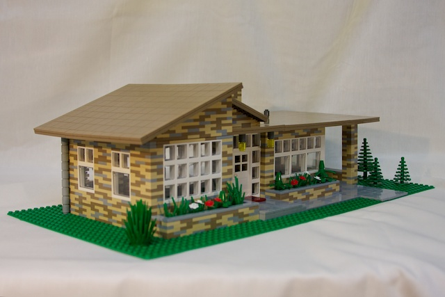 Lego Mid Century Modern House My Entry In The Dwell
