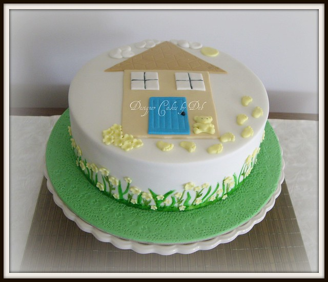 Welcome home baby news cake flickr photo sharing for Welcome home cake decorations
