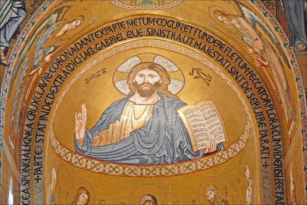 Mosa ques de la chapelle palatine palerme le christ for Comment coller de la mosaique