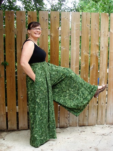 Goofing around in the Winslow Palazzo Pants