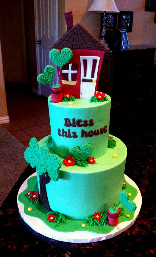 Cake Decorating Ideas For Housewarming : Housewarming Cake I made this one for a friend s ...