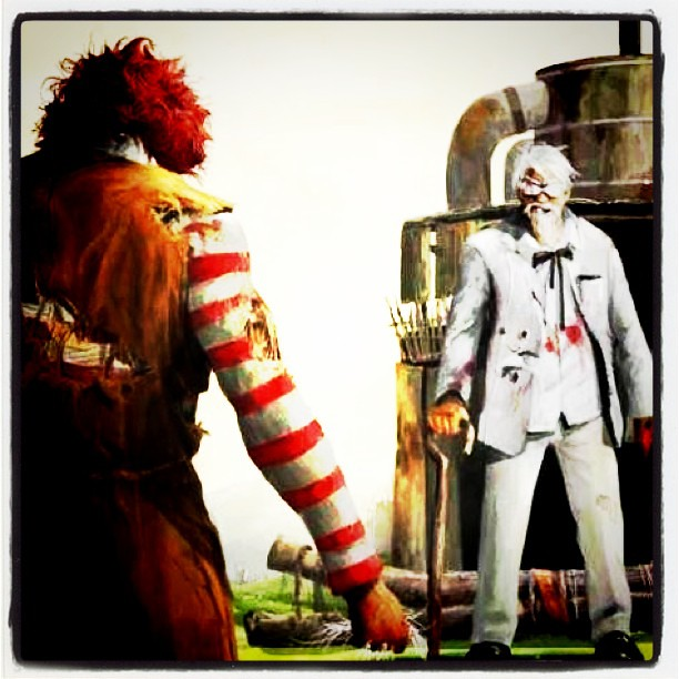 kfc vs mcdonalds essay Kentucky fried chicken, better known by its acronym kfc, is a franchise of fast  food restaurants specializing in fried chicken, which belongs to yum.