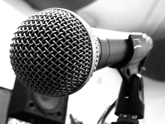 a microphone on the voice for example the voice asks you flickr. Black Bedroom Furniture Sets. Home Design Ideas