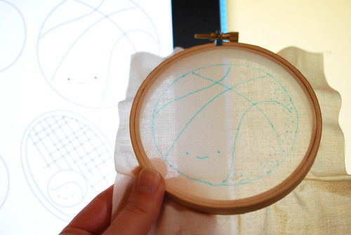 tracing embroidery on screen | by wildolive