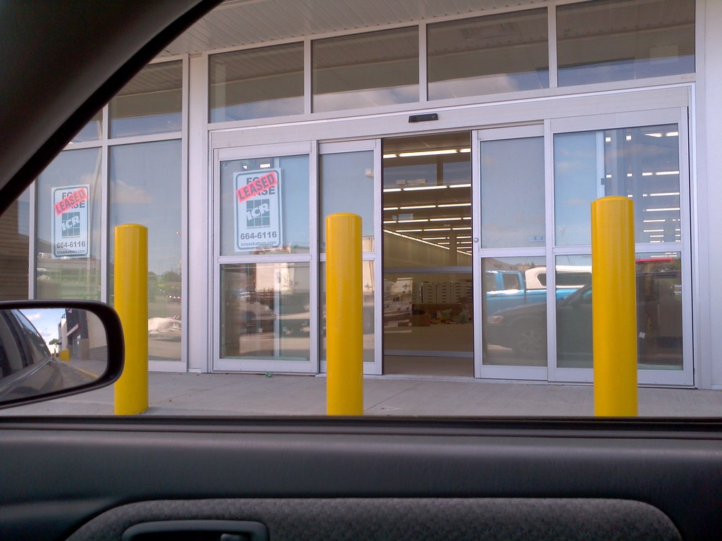 Automatic sliding doors at new dollar tree store the