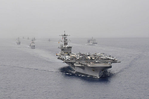 Passing exercise with USS Carl Vinson and U.S. and Indian navy ships. | by Official U.S. Navy Imagery