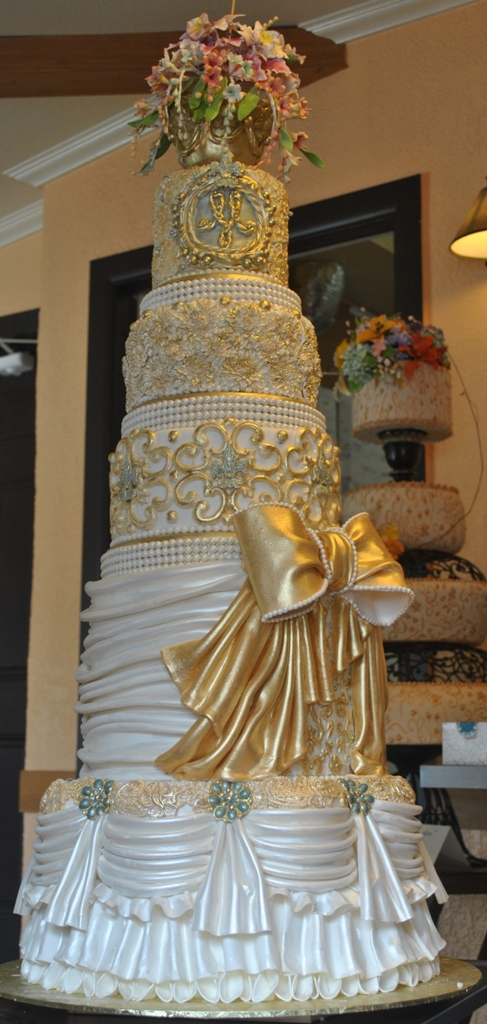 Royal Wedding Cake By The Cake Zone Ivory And Gold