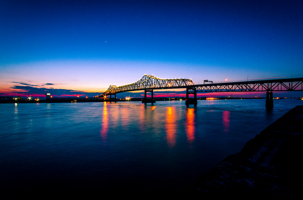 Views Of The I 10 Mississippi River Bridge In Baton