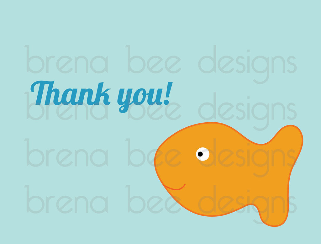 Gold Fish Greeting Thank You Cards Custom Printable Flickr