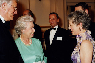 Sir Colin Southgate, Her Majesty Queen Elizabeth II and Monica Mason, Golden Jubilee Gala  23 July 2002 © Rob Moore/ROH 2002 | by Royal Opera House Covent Garden