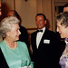 Sir Colin Southgate, Her Majesty Queen Elizabeth II and Monica Mason, Golden Jubilee Gala  23 July 2002 © Rob Moore/ROH 2002