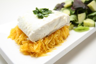 Lemon halibut & spaghetti squash | by nour_ish