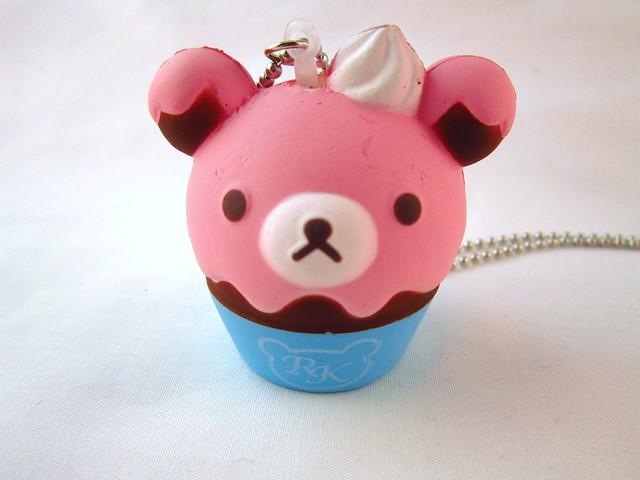 Kawaii Rilakkuma Cupcake Squishy Necklace Flickr - Photo Sharing!