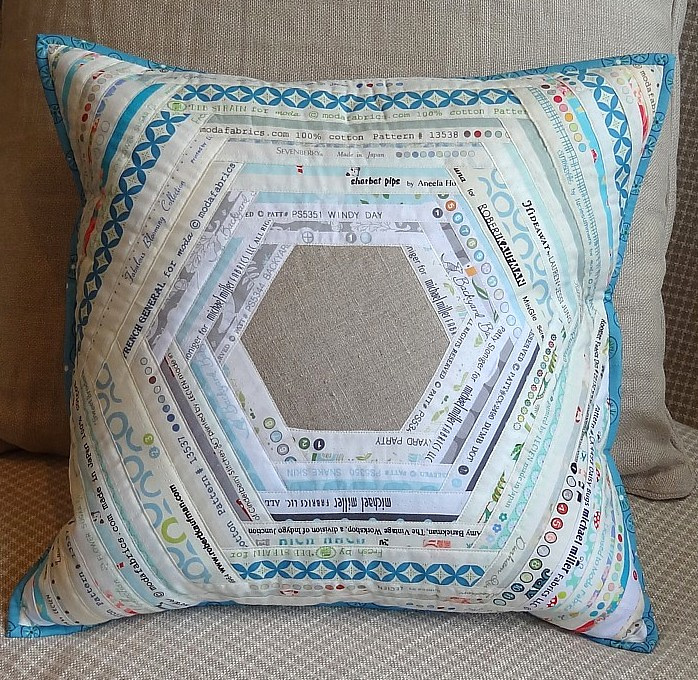 Modern Quilted Pillow : Entry #1 Modern Quilted Pillow Swap Name: Selvedge Hexie S? Flickr