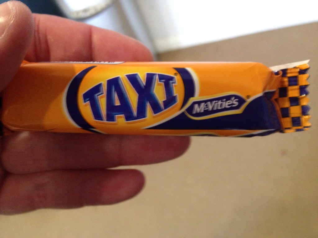 Taxi bar - I thought this biscuit had gone to brand hell ...
