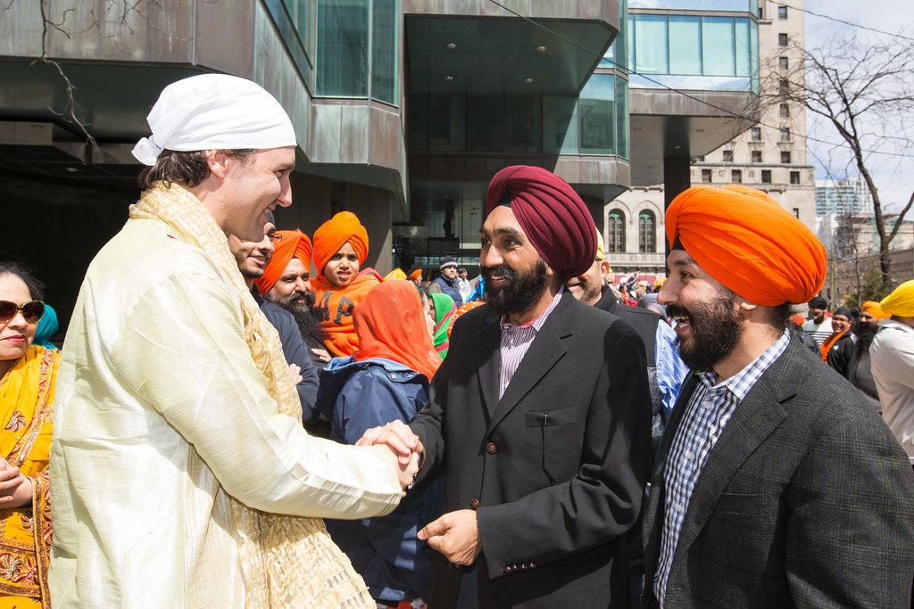 Justin and navdeep bains celebrates khalsa day in toronto for Navdeep s bains