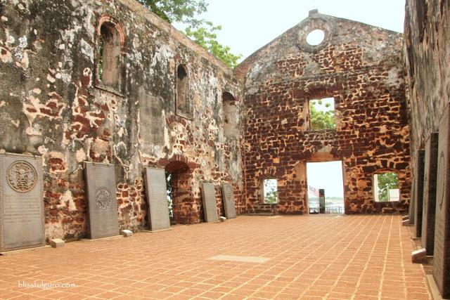 Melaka Malaysia Ruins of St Pauls Church