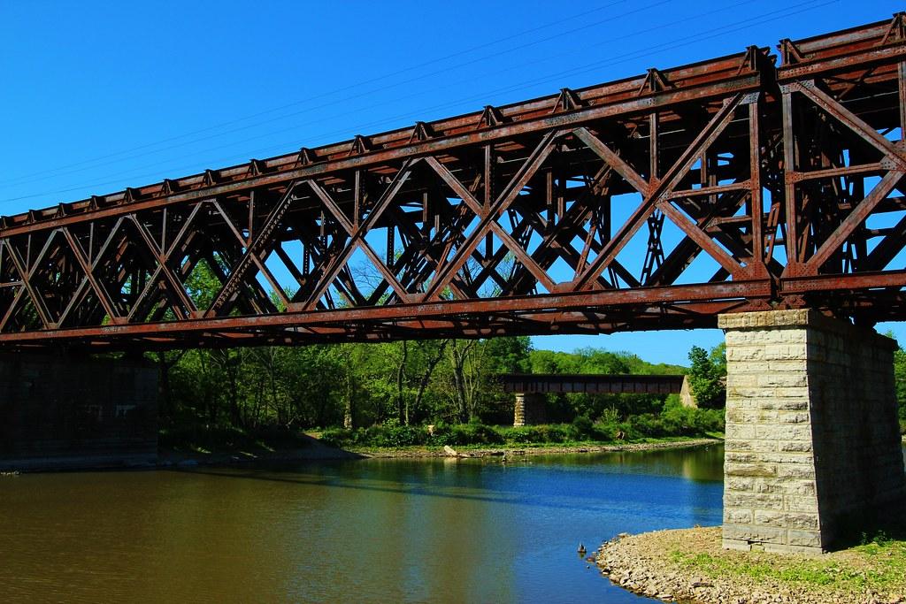 Rusty Railroad Bridges Two Rr Bridges On The Rock River