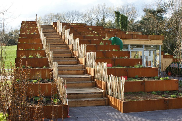 how to build a tiered garden on a slope