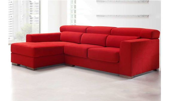 Sof tres plazas m s chaise longue con arc n y cabezales r for Sofa 4 plazas mas chaise longue