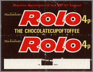UK - Mackintosh's - Rolo - 4p chocolate candy wrapper - 1970's | by JasonLiebig