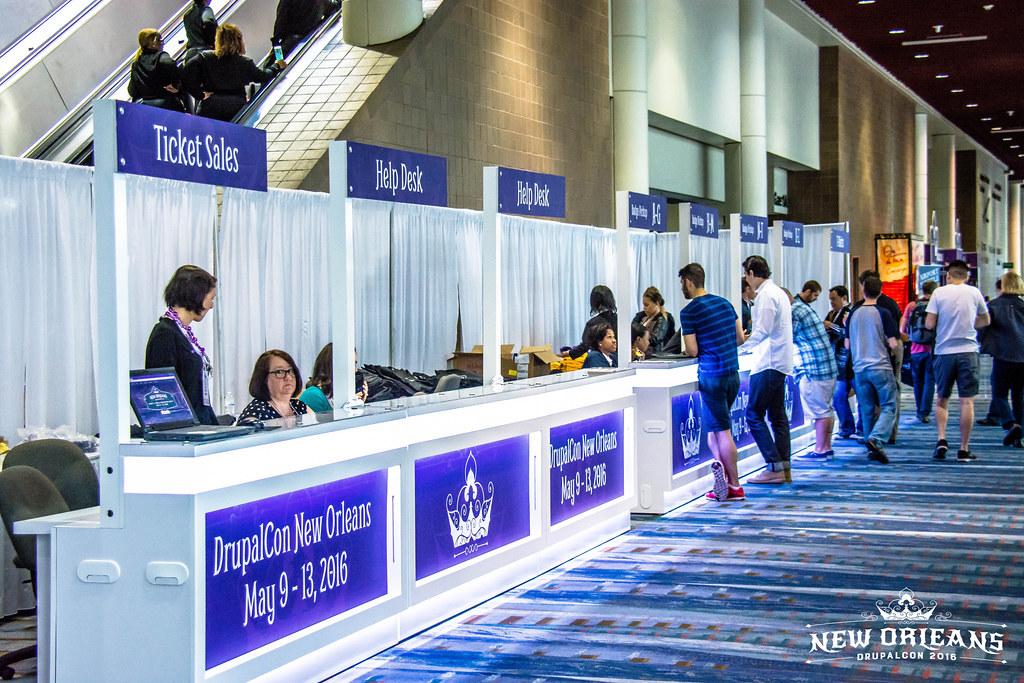 Registration Desk Event Staff In Action Drupal Con New