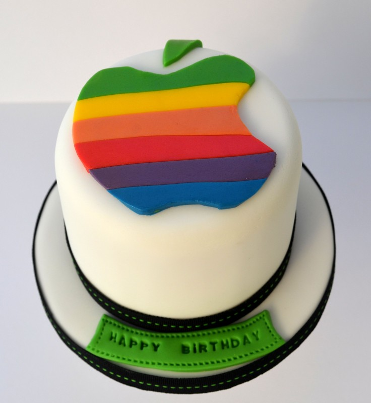 Apple Logo Birthday Cake