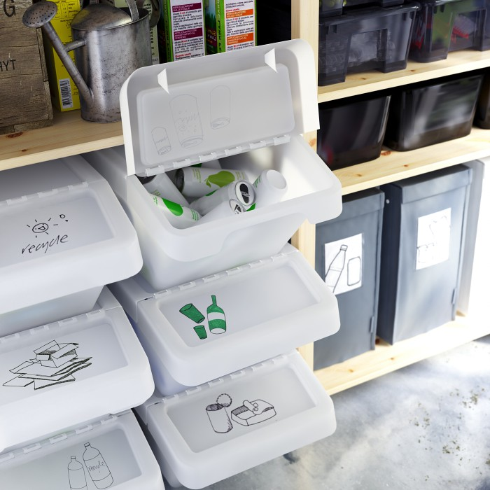 Sortera Recycling Bin With Lid