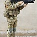 British Army Soldier in Full Combat Dress in Afghanistan