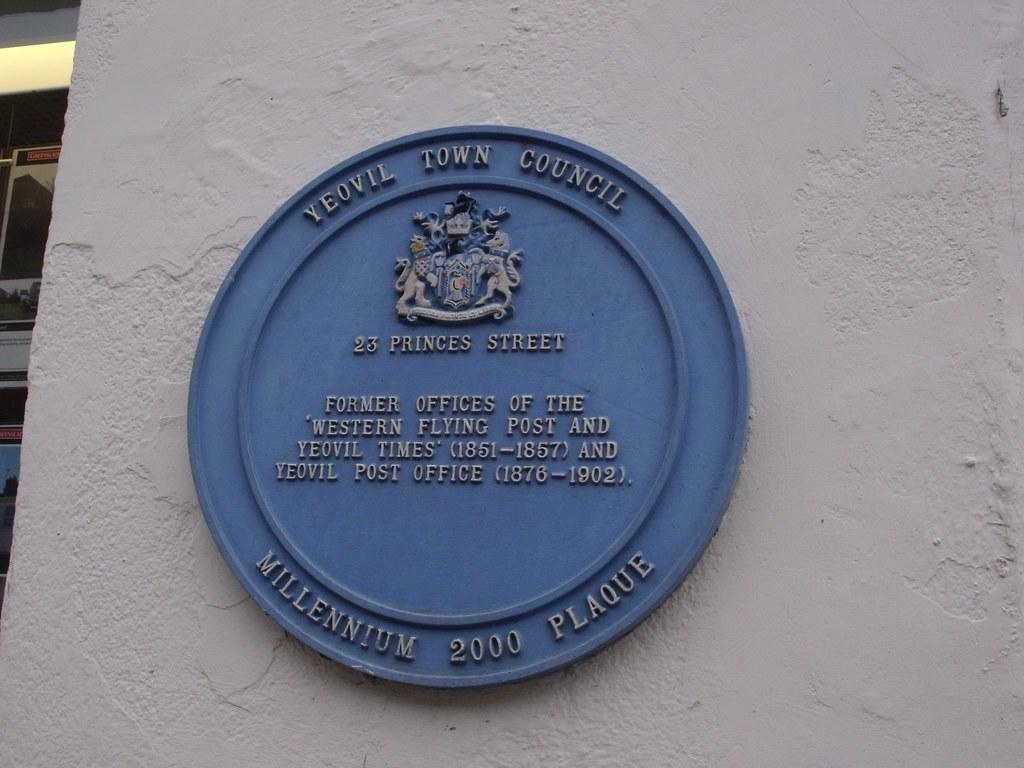 23 princes street yeovil blue plaque a visit to. Black Bedroom Furniture Sets. Home Design Ideas