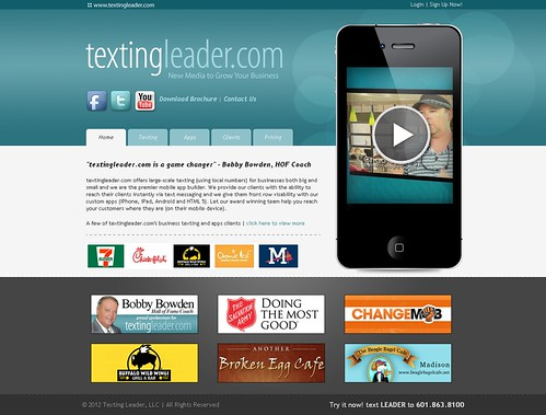 TextingLeader.com 2012 Design | by Mathachew