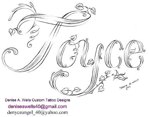 Joyce Tattoo Design By Denise A Wells Name Joyce Made In Flickr