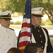 The Presentation of the Colors by the Auburn University Air Force, Army and Naval ROTC at the dedication of the Max Adams Morris ROTC Drill Field and historic marker.