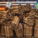 bundles of cinnamon sticks in market: photo by Jackie Alpers