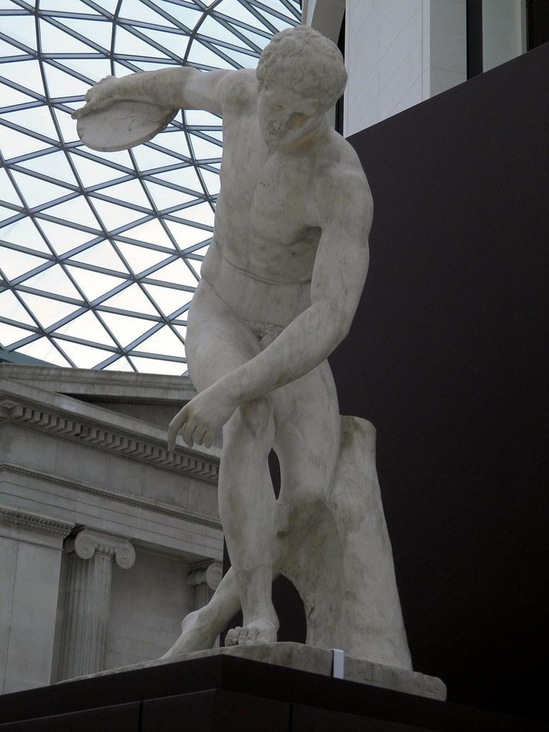 Discus Thrower Discobolus Roman Copy Of A Bronze Origin