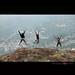 3 idiots atop Needle Rock - OOty