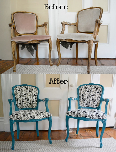 Craigslist DIY Chair Makeover- Painted, Glazed, and ...