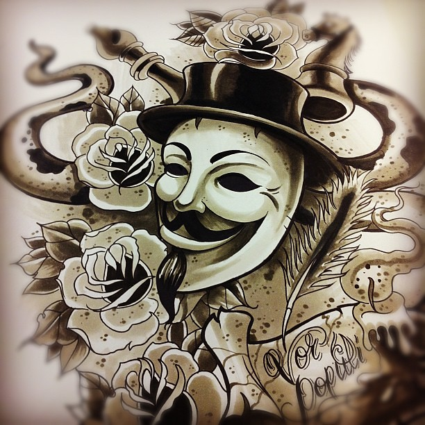 Tattoo Designs Vendetta: V For Vendetta Snake Tattoo Design #tattoo #vforvendetta