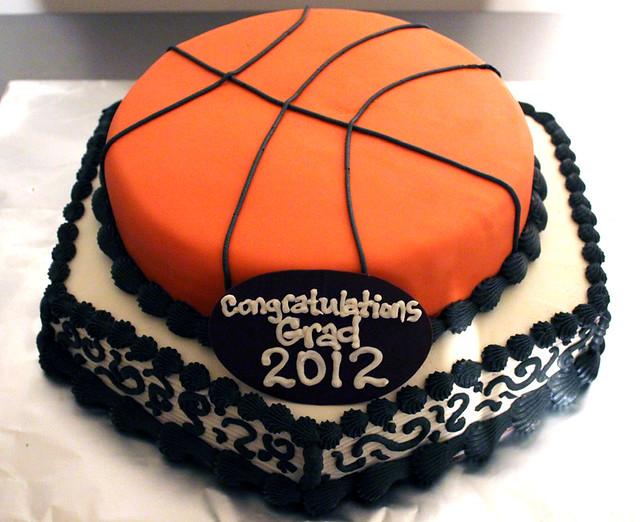 Groom S Basketball Cake And Cupcakes