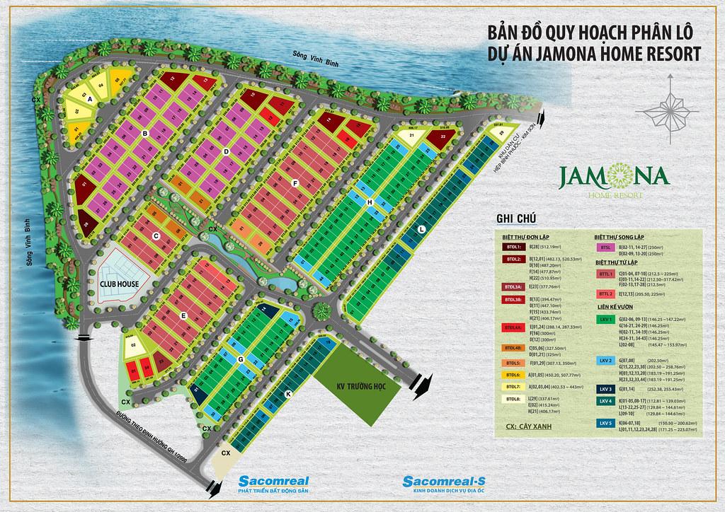 Mặt bằng phân lô dự án Jamona Home Resort Thủ Đức