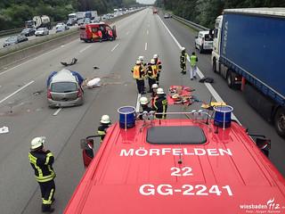 Schwerer Verkehrsunfall A5 Zeppelinheim 25.05.16