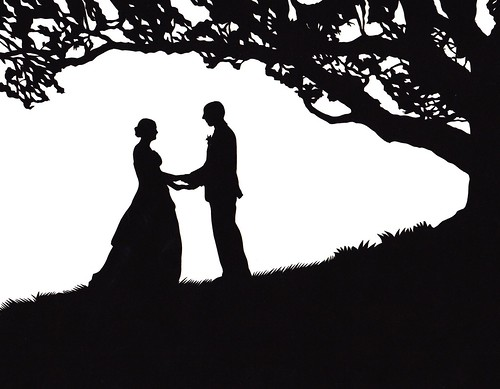 wedding under an oak tree silhouette | by jenny lee fowler