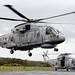 Royal Navy Merlin Helicopter with CHF During Exercise Scottish Lion