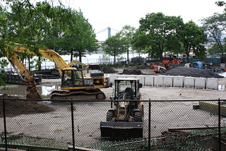 A construction project next to the amphitheater in East River Park. | by Bedford Bowery