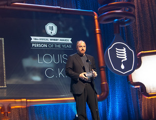 Louis C.K. accepting the Person of the Year Award | by Scott Beale